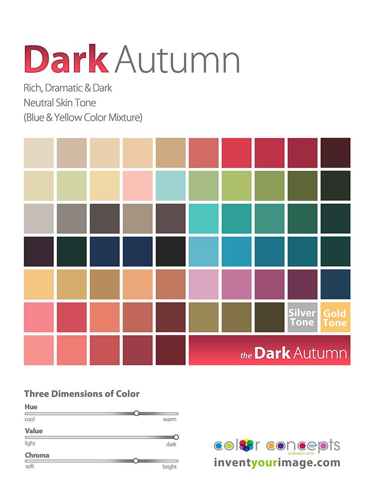 women dark autumn